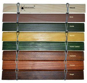 Colores persiana cadenilla de madera