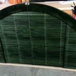 Medio punto persianas de madera