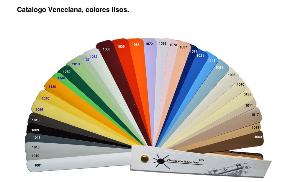 Catalogo veneciana aluminio colores lisos